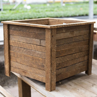Square Planter with Reclaimed Wood