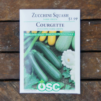 Zucchini Seeds – Dark Green – OSC