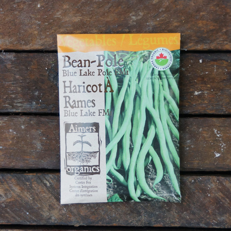 Bean Seeds – Blue Lake Pole FM1 Certified Organic – OSC