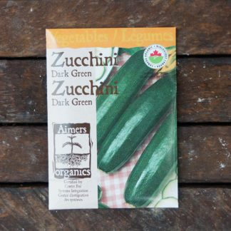 Zucchini Seeds – Dark Green Certified Organic – OSC