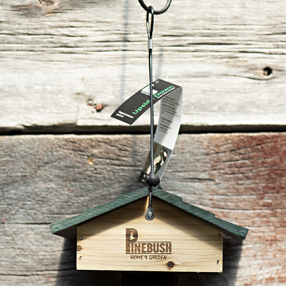 Upside Down Suet Cake Feeder