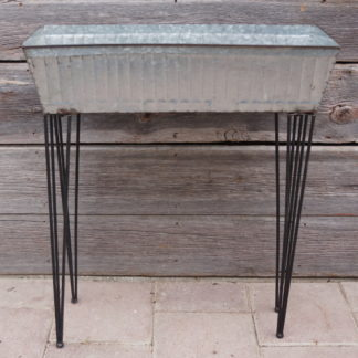 Rectangular Zinc Planter with Plant Stand