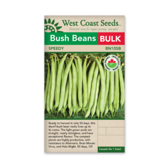 Bean Seeds – Speedy Certified Organic – Bulk Pack WCS